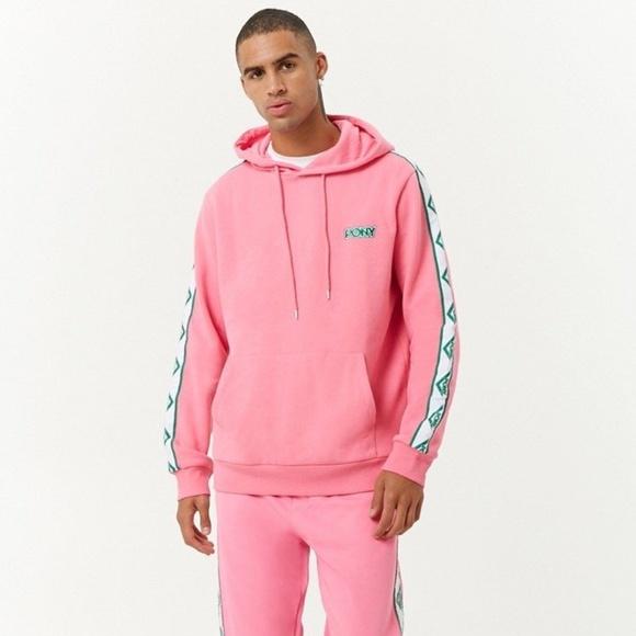 4d1fa6248af50 PONY x Forever 21 Pink Logo Hoodie Sweatshirt